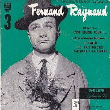 Disque 45t de l'humoriste français Fernand Raynaud, sorti en 1955
