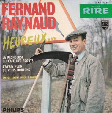 """""""Heureux..."""" : disque 45t de l'humoriste français Fernand Raynaud"""