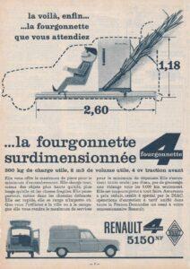 Publicité de 1961 pour la Fourgonnette R4 Renault