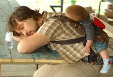 """Un papa et son bébé """"raplaplas"""" ou """"flagadas"""""""