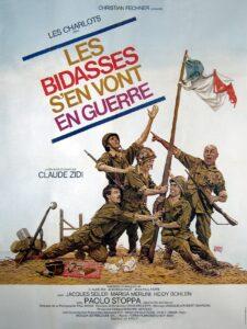 """Affiche du film français """"Les bidasses s'en vont en guerre"""", de Claude Zidi (1974)"""