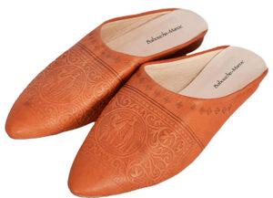 Une paire de babouches marocaines en cuir