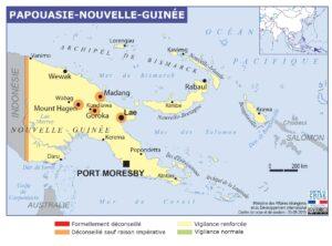 Carte de Papouasie-Nouvelle-Guinée