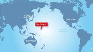 Localisation de l'île de Guam, dans le Pacifique