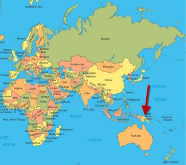 Localisation de la Papouasie-Nouvelle-Guinée