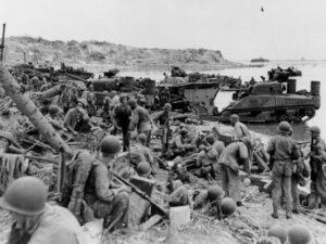 La reconquête de l'île de Guam, en juillet-août 1944