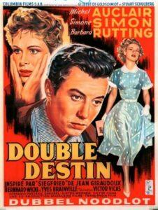 """Affiche belge du film """"Double destin"""", de Victor Vicas (1955)"""