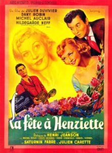 """Affiche du film """"la fête à Henriette"""", de Julien Duvivier (1952)"""