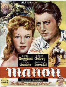 """Affiche du film """"Manon"""", d'Henri-Georges Clouzot (1949)"""