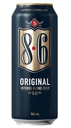 """Une boîte de bière """"8.6"""""""