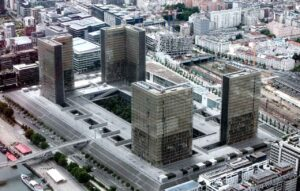 La Bibliothèque nationale de France, site François Mitterrand, à Paris (75)