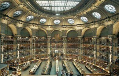 La Bibliothèque nationale de France, site Richelieu, à Paris (75)
