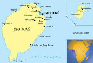 Carte de Sao-Tomé-et-Principe