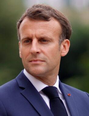 Le président de la République française Emmanuel Macron