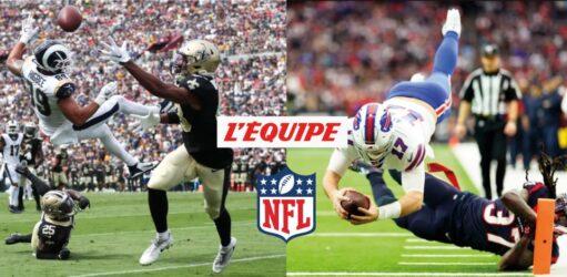 La saison régulière de NFL (National Football League) sur la chaîne L'Équipe