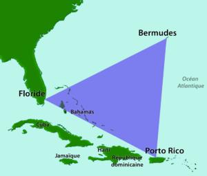Carte du Triangle des Bermudes